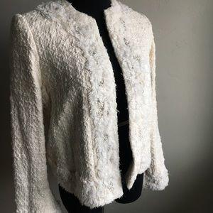 Alice Olivia Nila Cream Embezzled jacket sz S